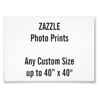 Personalized A6 Photo Print, or custom size