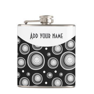 Personalized Abstract Black White Gray Polka Dots