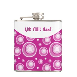 Personalized Abstract Fucshia Polka Dots