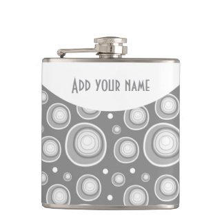 Personalized Abstract Gray Polka Dots