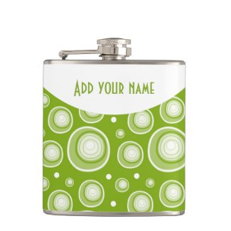 Personalized Abstract Green Polka Dots