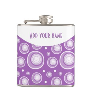 Personalized Abstract Lavender Polka Dots