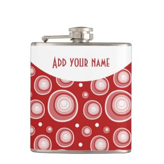 Personalized Abstract Maroon Polka Dots
