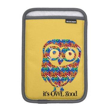 Personalized Abstract Owl iPad Mini Sleeve