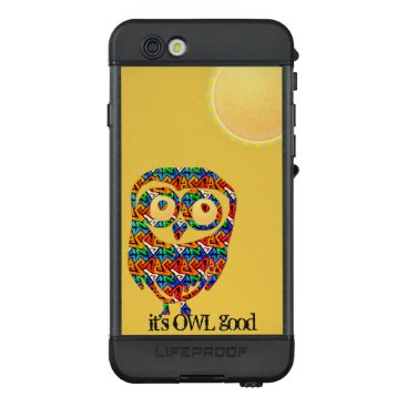 Personalized Abstract Owl LifeProof NÜÜD iPhone 6s Case