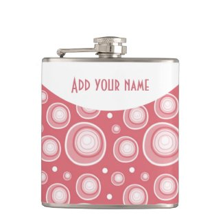 Personalized Abstract Peach Polka Dots
