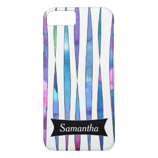 Personalized Abstract Purple Watercolor Streamers iPhone 8/7 Case