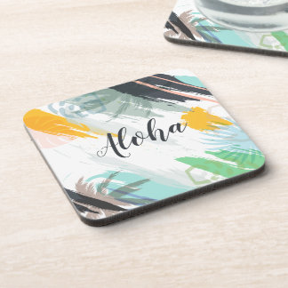 Personalized Abstract Tropical | Coaster