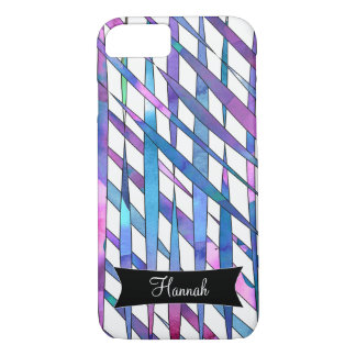 Personalized Abstract Watercolor Streamer Thatches iPhone 8/7 Case