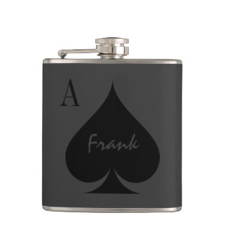 Personalized Ace of spades drink flask