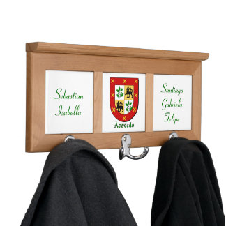 Personalized Acevado Family Historical Arms Coat Rack