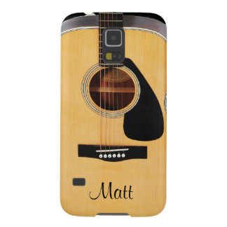 Personalized Acoustic Guitar Music Galaxy S5 Case