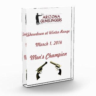 Personalized Acrylic Award with Club Logo