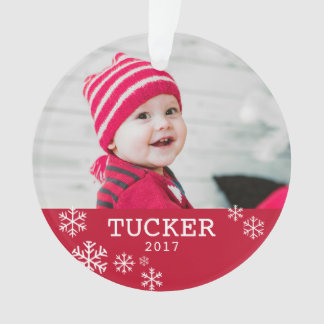 Personalized Acrylic Snowflake Photo Ornament