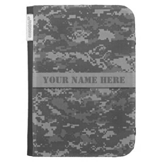 Personalized ACU Camouflage Kindle Case