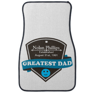 Personalized Add Greatest Dad's Name And Date Car Floor Mat