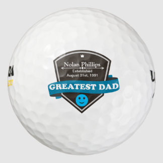 Personalized Add Greatest Dad's Name And Date Golf Balls