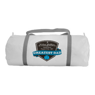 Personalized Add Greatest Dad's Name And Date Gym Bag