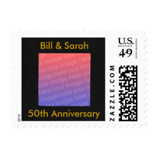 Personalized Add Photo 50th Anniversary Stamps