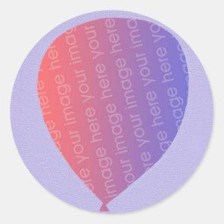 Personalized Add Photo Balloon Birthday Stickers