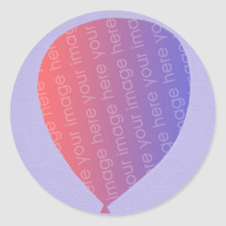 Personalized Add Photo Balloon Birthday Stickers