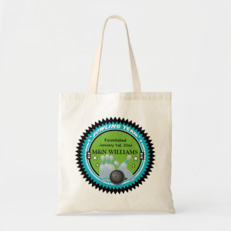 Personalized Add Your Name Bowling Team Logo Tote Bag