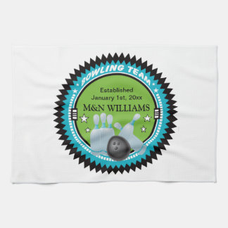 Personalized Add Your Name Bowling Team Logo Towel