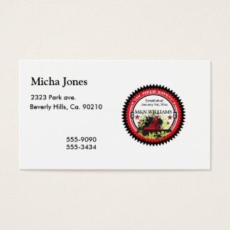 Personalized Add Your Name Oil Field Safety Logo Business Card