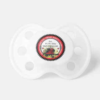 Personalized Add Your Name Oil Field Safety Logo BooginHead Pacifier