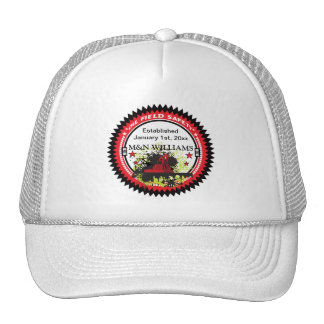 Personalized Add Your Name Oil Field Safety Logo Trucker Hat