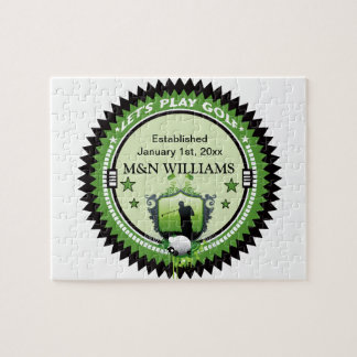 Personalized Add Your Name Play Golf Logo Puzzle