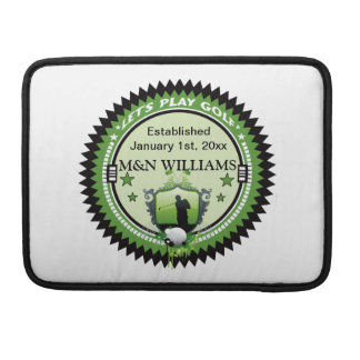 Personalized Add Your Name Play Golf Logo Sleeve For MacBook Pro