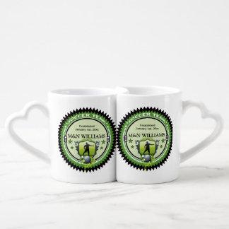 Personalized Add Your Name Soccer Team Logo Coffee Mug Set