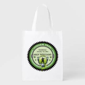 Personalized Add Your Name Soccer Team Logo Grocery Bags