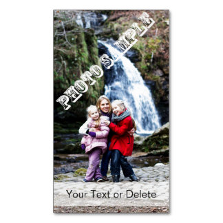 Personalized Add Your Photo and Text Magnetic Business Card