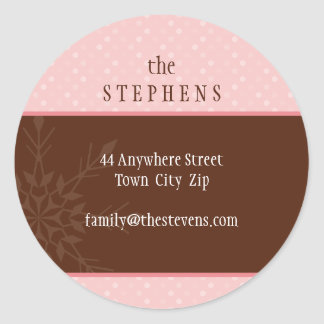 PERSONALIZED ADDRESS LABEL :: magical snowflake 1 Classic Round Sticker