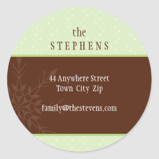 PERSONALIZED ADDRESS LABEL :: magical snowflake 2 Classic Round Sticker