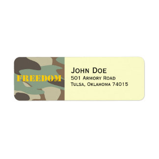 Personalized Address Label- Military Label