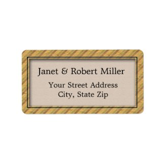 Personalized Address Labels - Modern Stripes label