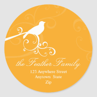 PERSONALIZED ADDRESS LABELS :: whimsicalbird 4 Stickers