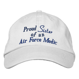 "Personalized Adjustable Hat: ""Air Force Medic II"" Embroidered Baseball Cap"