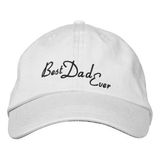 Personalized Adjustable Hat/Best Dad ever Embroidered Hat