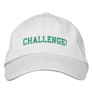 Personalized Adjustable Hat-Challenge Embroidered Hat
