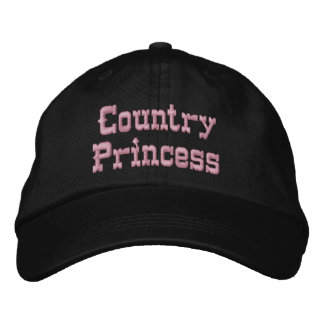 Personalized Adjustable Hat... Country Princess Embroidered Baseball Hat
