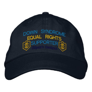 Personalized Adjustable Hat, Down Syndrome Embroidered Baseball Hat
