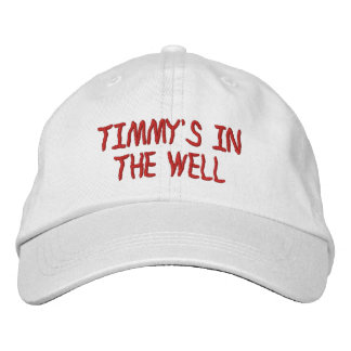 Personalized Adjustable Hat - TIMMY'S IN THE WELL. Embroidered Hat