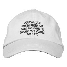 Personalized Adjustable Make It Yourself Embroidered Baseball Cap at Zazzle