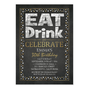 Personalized Adult 30th Birthday Party Invitations