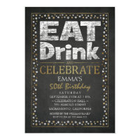 Party 50th birthday invitations announcements zazzle personalized adult 50th birthday party invitations filmwisefo