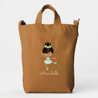 Personalized African American Ballerina Bag